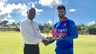 Shreyas Iyer aces the Caribbean challenge